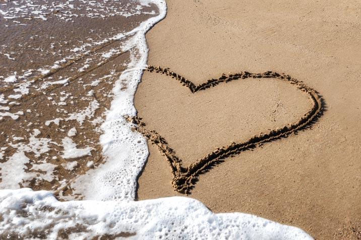 Singles Beratung Herz im Meer